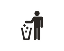 Do Not Litter Icon Symbol Vector