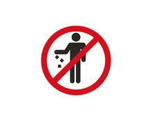 Do Not Litter Icon Symbol Vector