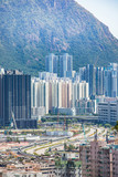 Cityscape of downtown, Kowloon, Hong Kong