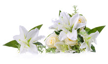 Artificial Lily And Rose Flowe...