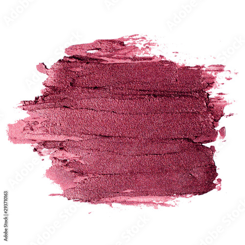 Canvastavla Smear of gold matte metallic lipstick or creamy eye shadow texture on white back