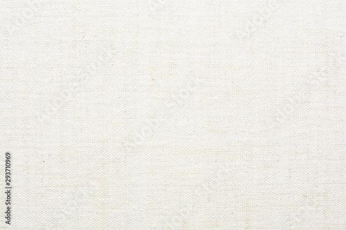 Fototapeta Fabric canvas natural linen beige texture for backgrounds  obraz