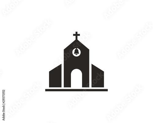 Church icon symbol vector - 293713112