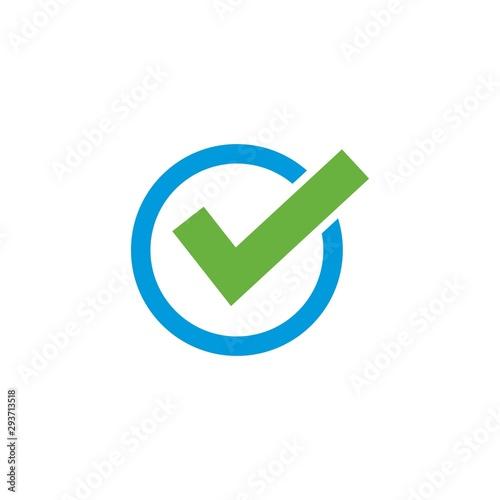 Fotografía  check mark logo icon illustration design