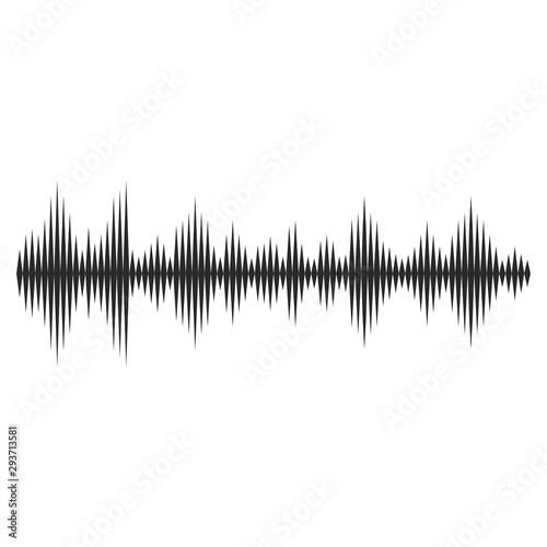 Sound waves vector illustration design Canvas Print