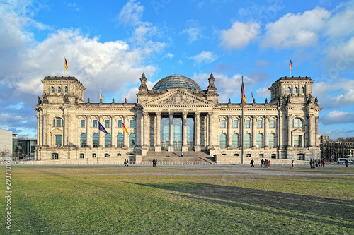 Reichstag building in Berlin, Germany Canvas Print