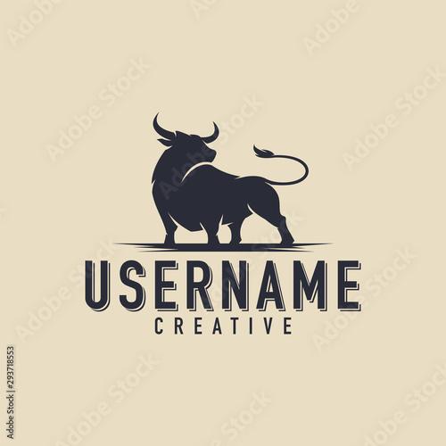 Bull logo Canvas Print