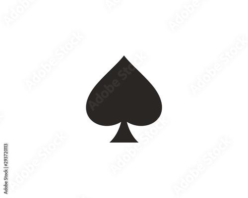 Fényképezés Spades playing card icon symbol vector