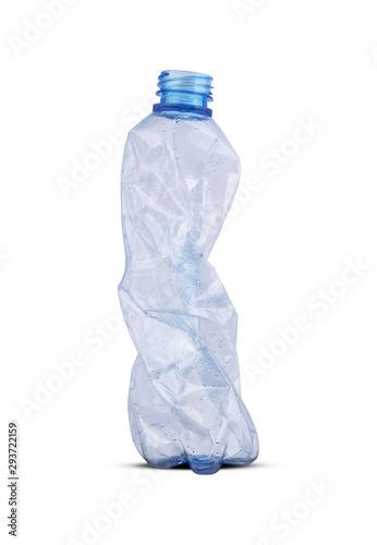 Fototapeta crushed plastic bottle