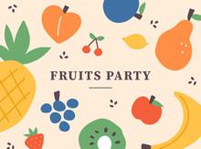 Fruit Illustration Pattern Car...