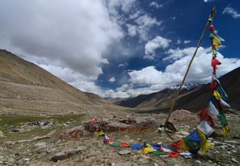 Prayer Flags in Khardung la Pass,Ladakh,India