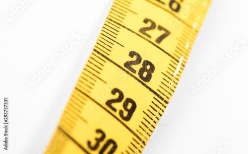 Fotografia  Measuring tape, selective focus on 28