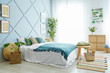 canvas print picture Interior of beautiful modern bedroom