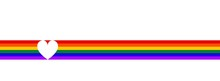 LGBT Flag With Heart. Symbol L...