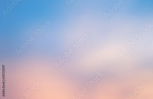 Fototapety, obrazy: weicher Himmel Hintergrund, Verlauf von rosa nach hellblau, defokussiert