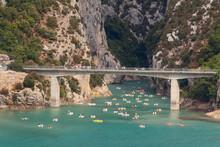The Bridge At Lac De Sainte-Croix, Gorges Du Verdon, Verdon Gorge Provence-Alpes-Cote D'Azur, Provence, France, Europe