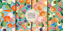 Trendy Food Seamless Patterns ...