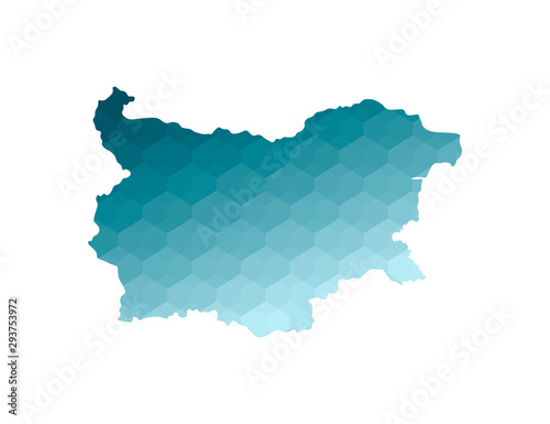 Vector isolated illustration icon with simplified blue silhouette of Bulgaria map Canvas Print