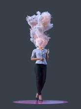 Woman Burning At Work