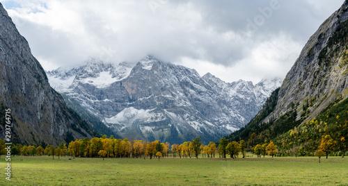 Recess Fitting Pale violet Herbst am Ahornboden im Karwendel
