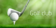 Golf Club Advertising Banner T...