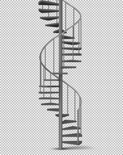 Metal Spiral, Helical Staircas...