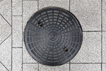 Rusty Manhole Cap, Grunge Manh...