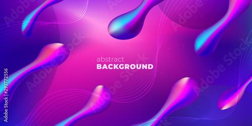 Foto auf Gartenposter Violett Purple Liquid color background design. Futuristic Gradient. Minimal Pattern. Fluid gradient shapes composition. Futuristic design Brochure. Abstract Geometric Background.