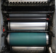 Leinwanddruck Bild - Printing machine part with rollers