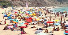 Crowded Beach Praia Da Luz Por...