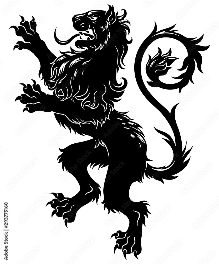 Fototapeta Heraldic lion