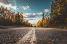 Autumn Road View From Sotkamo,...