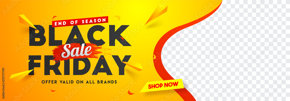 Obraz Black Friday sale website banner design with space for your product image. fototapeta, plakat