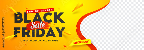 Foto Black Friday sale website banner design with space for your product image