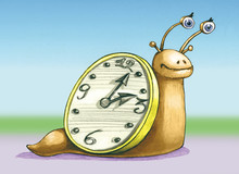 Slow Time Allegoric Illustrati...