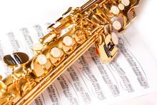 Soprano Saxophone On White Background