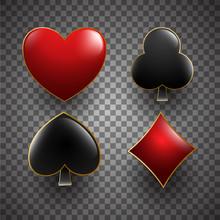Illustration Of Heart, Spade, ...