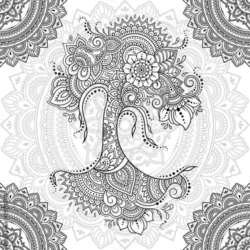 Tapety Orientalne  bezszwowe-ozdobny-ornament-w-etnicznym-stylu-orientalnym-okragly-wzor-w-formie-mandali-i-drzewa-z-kwiatem-do-henny-mehndi-dekoracji-i-kolorowania-doodle-zarys-recznie-rysowac-ilustracji-wektorowych