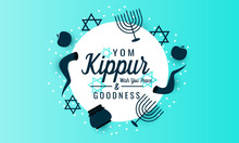Yom Kippur Greeting Card Or Ba...