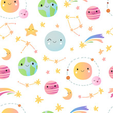 Seamless Pattern With Stars An...