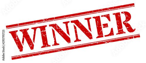 winner stamp. winner square grunge sign. winner Canvas-taulu