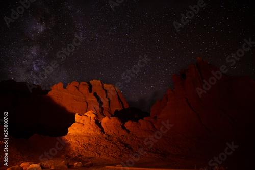Fotografie, Obraz  USA Utah Milchstrasse Sterne Camping