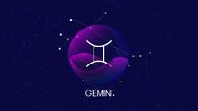 Gemini Sign, Zodiac Background...