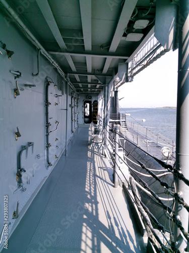 warship destroyer battleship reinforced doors Canvas Print