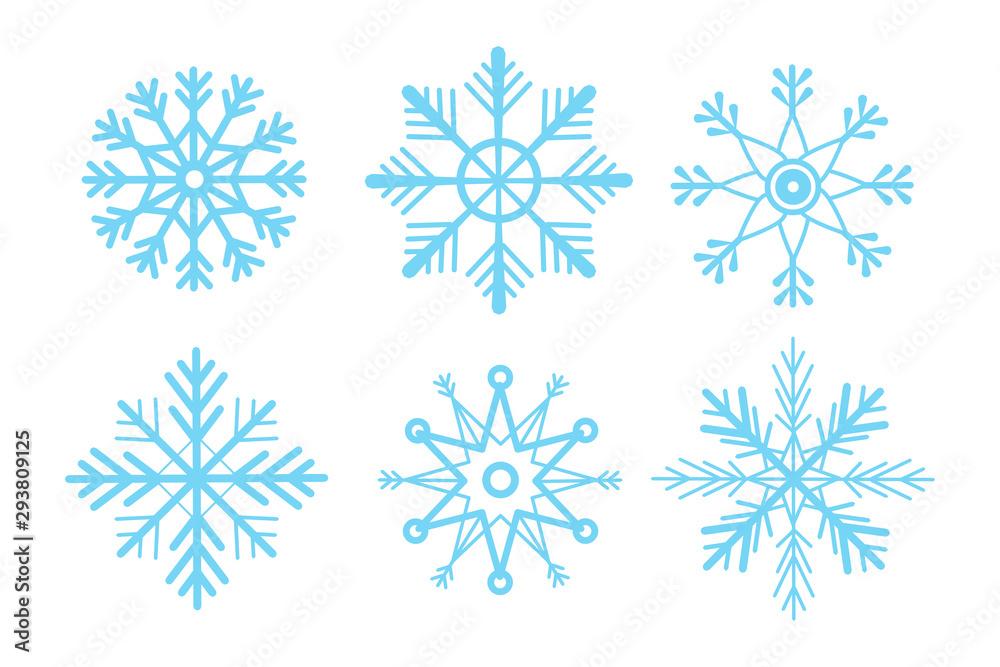 Fototapeta Set of snowflakes