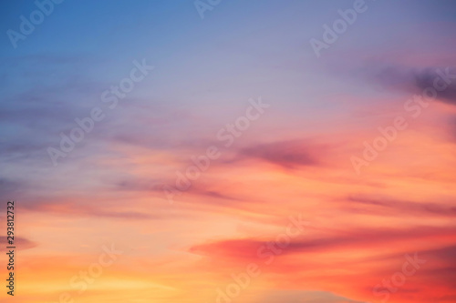 Foto auf AluDibond Koralle sky with clouds