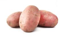 Red Potato On A White Background