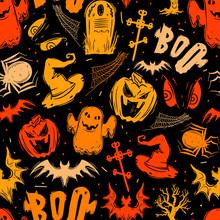 Abstract Seamless Halloween Pa...