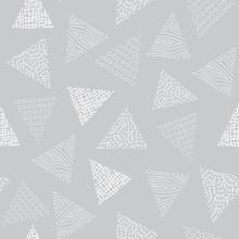 Vector Geometric White Triangl...