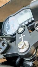 Motorbike With Crucifix Symbol...
